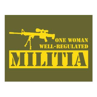 Una mujer reguló bien a la milicia postales