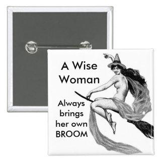 una mujer sabia pin cuadrada 5 cm