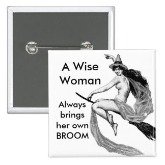una mujer sabia pin cuadrado