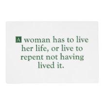 Una mujer tiene que vivir su vida