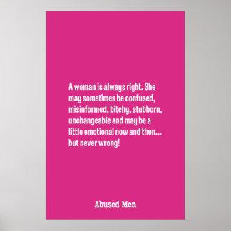 Una mujer tiene siempre razón… póster