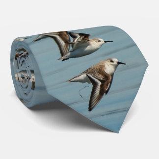 Una multitud de Sanderlings toma vuelo Corbata Personalizada
