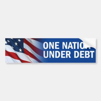 Una nación bajo deuda pegatina para auto