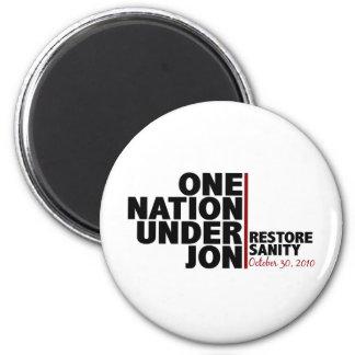 una nación bajo jon (Stewart) Imán Redondo 5 Cm