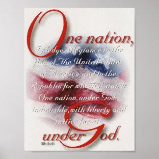 Una nación conforme al poster de dios