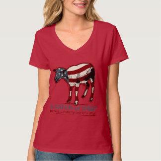 Una nación de la camiseta de las ovejas playera