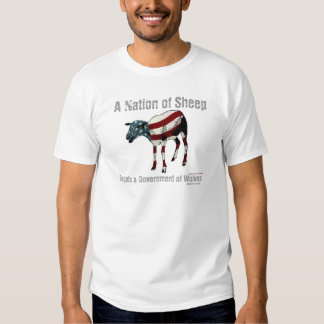 Una nación de la camiseta de las ovejas playeras