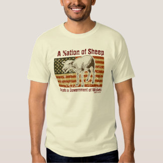 Una nación de la camiseta de las ovejas remeras