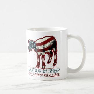 Una nación de la taza de las ovejas