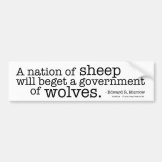 Una nación de ovejas etiqueta de parachoque