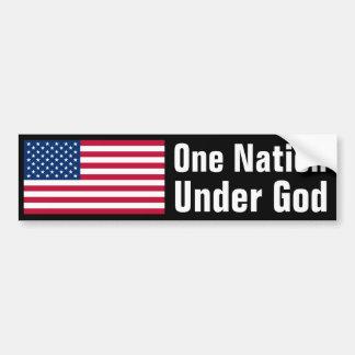 Una nación debajo de dios etiqueta de parachoque