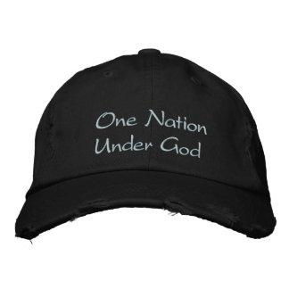 Una nación debajo de dios gorras bordadas