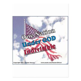 Una nación debajo de dios, indivisible postales