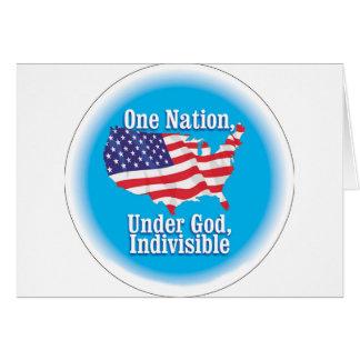 Una nación debajo de dios. Indivisible Tarjeta De Felicitación