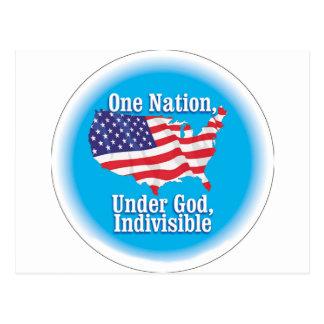 Una nación debajo de dios. Indivisible Tarjeta Postal