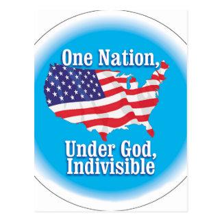 Una nación debajo de dios. Indivisible Tarjetas Postales