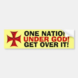 ¡UNA NACIÓN, DEBAJO DE DIOS! pegatina para el para Pegatina Para Auto