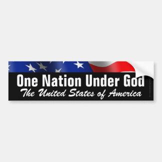 Una nación debajo de dios, pegatina para el parach pegatina de parachoque