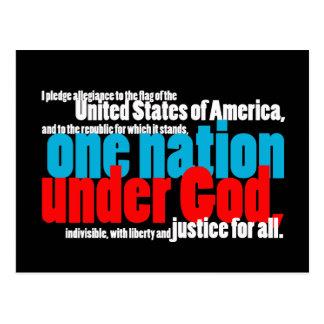 Una nación debajo de dios postales