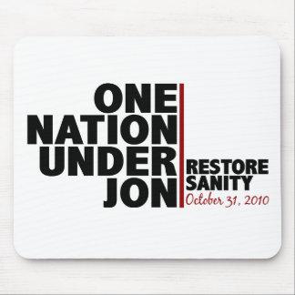 Una nación debajo de Jon (cordura del restablecimi Alfombrilla De Ratón