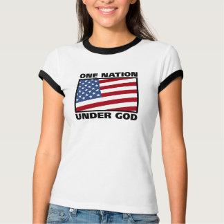 Una nación debajo de la camiseta de dios poleras