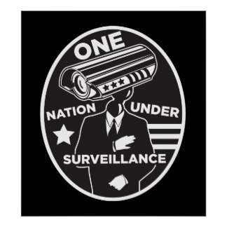 Una nación debajo de la impresión de la vigilancia posters