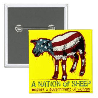 Una nación del botón de las ovejas pin