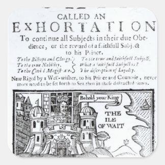 Una nave de Ould llamada un Exhortation Pegatina Cuadrada