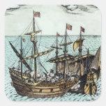 Una nave de tesoro española colcomanias cuadradases