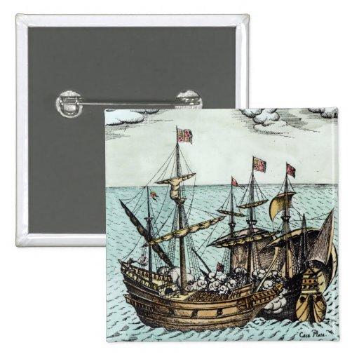 Una nave de tesoro española pins