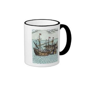 Una nave de tesoro española taza de dos colores