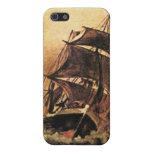 una nave en el mar 02 iPhone 5 funda