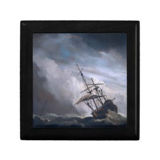 Una nave en necesidad en tormenta que rabia de A Caja De Recuerdo