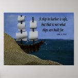 Una nave en puerto posters