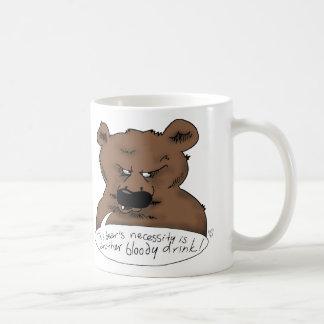 Una necesidad de los osos taza de café