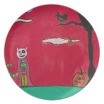 Una noche de Halloween Plato De Comida