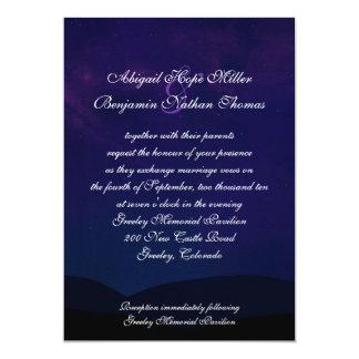 Una noche debajo de las estrellas que casan la invitación 12,7 x 17,8 cm