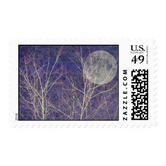 Una noche del invierno con la Luna Llena Sellos
