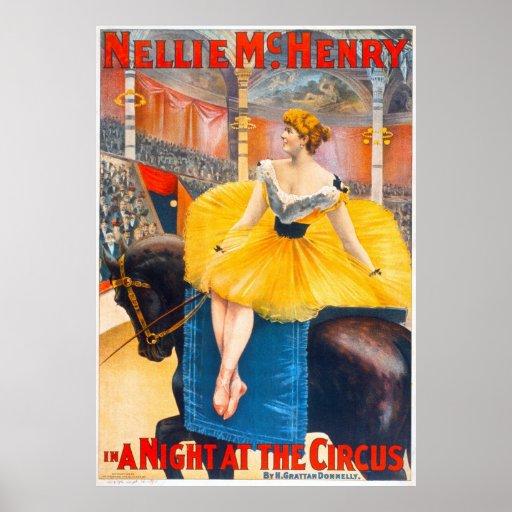 Una noche en el circo póster