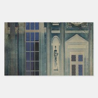 Una noche en el palacio pegatina rectangular