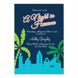 """Una noche en La Habana Invitación 3.5"""" X 5"""""""