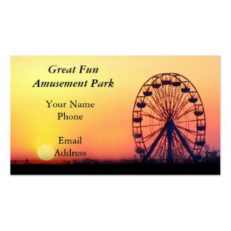 Una noria y un parque de atracciones tarjetas de visita