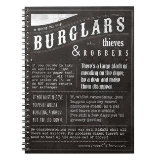 Una nota a los ladrones a los ladrones y a los la