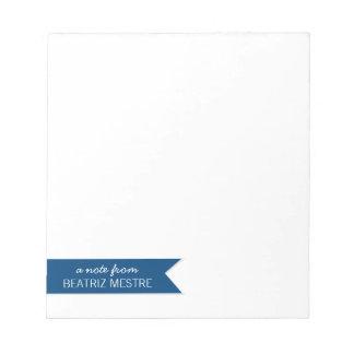 Una nota de… Azul personalizado de las libretas el Libretas Para Notas