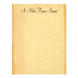 Una nota de… Efectos de escritorio de papel viejos Membrete