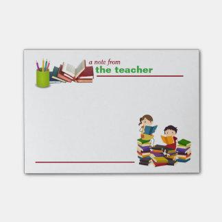 Una nota de las notas de post-it del profesor post-it® nota