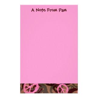 Una nota de muestras de la PAM-Efectos de escritor Papeleria Personalizada