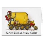 Una nota de… Tarjeta de nota del camión del mezcla