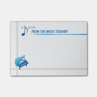 Una nota del profesor de música (notas pegajosas) nota post-it®