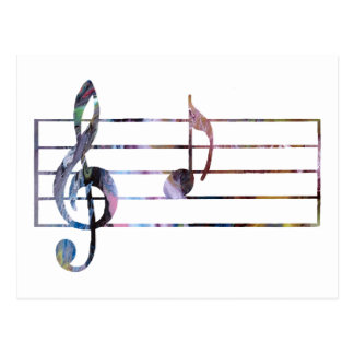 Una nota musical postal